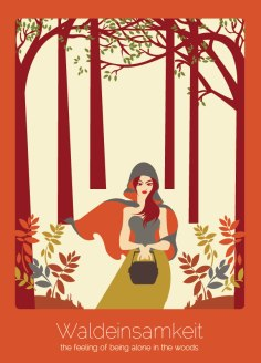 12. Waldeinsamkeit (alemán) El sentimiento e sentirse solo en el bosque.