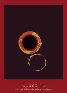 22. Culaccino (italiano) La marca dejada en la mesa por un vaso frío.